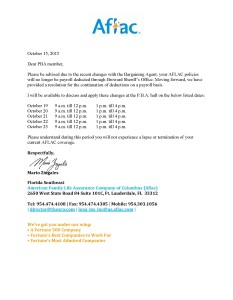 AFLAC Letter 10 15 15
